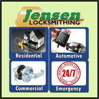 Jensen Locksmithing logo