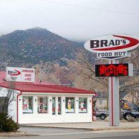 Brad's Food Hut logo