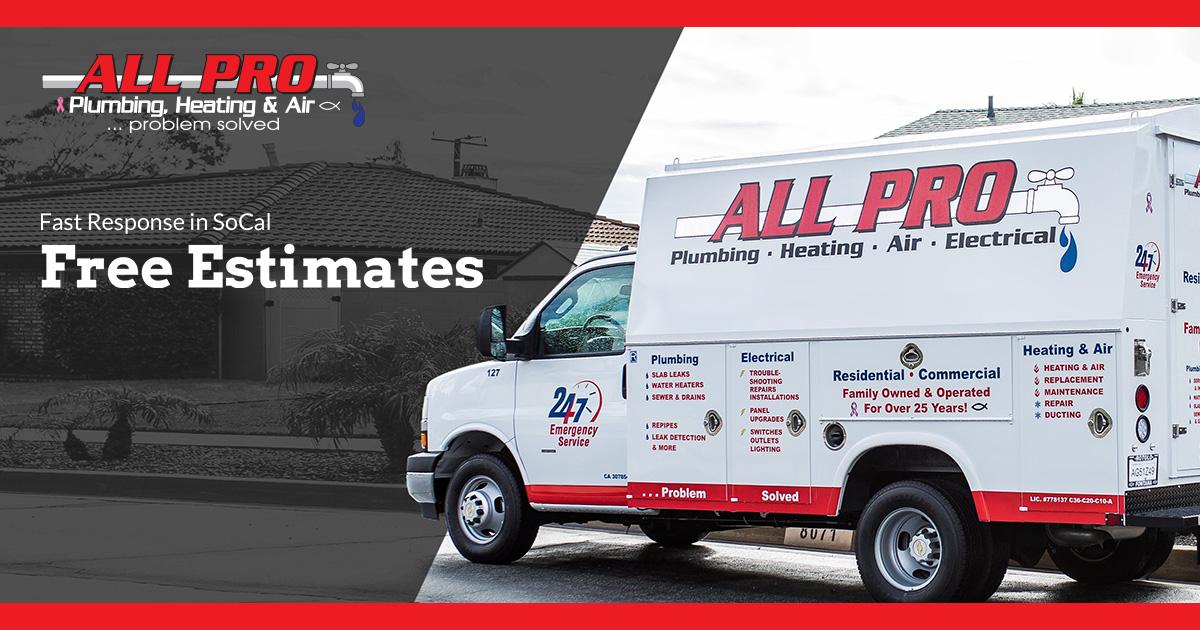 All Pro Plumbing Heating Air & Electrical logo