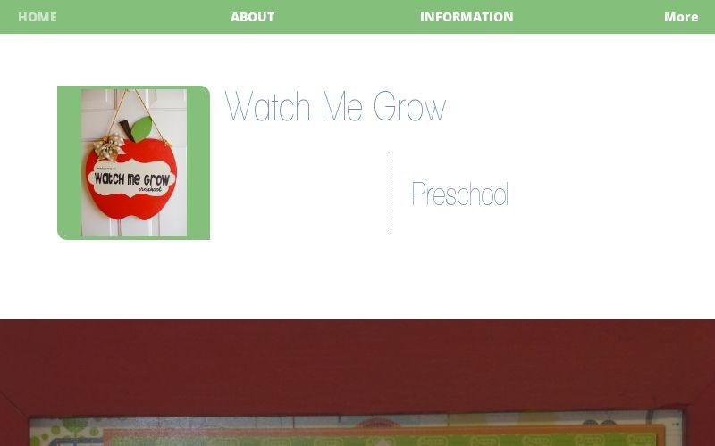 Watch Me Grow Preschool logo