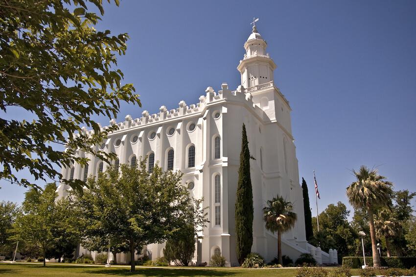The Mormon Temple in St. George, Utah